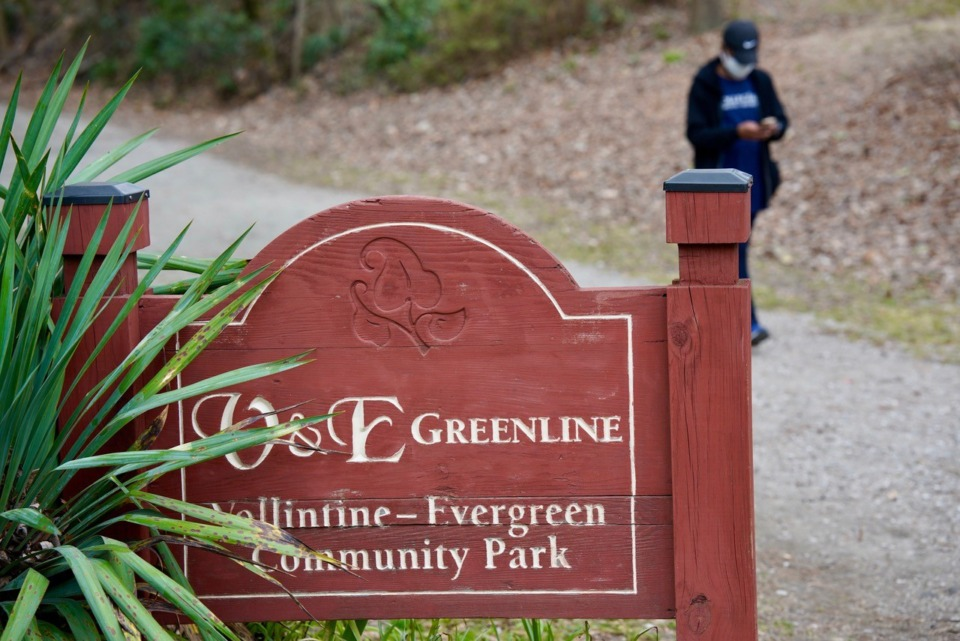 <strong>The Vollintine-Evergreen Community Association created the city&rsquo;s first rails-to-trails path.</strong> (Tom Bailey/Daily Memphian)