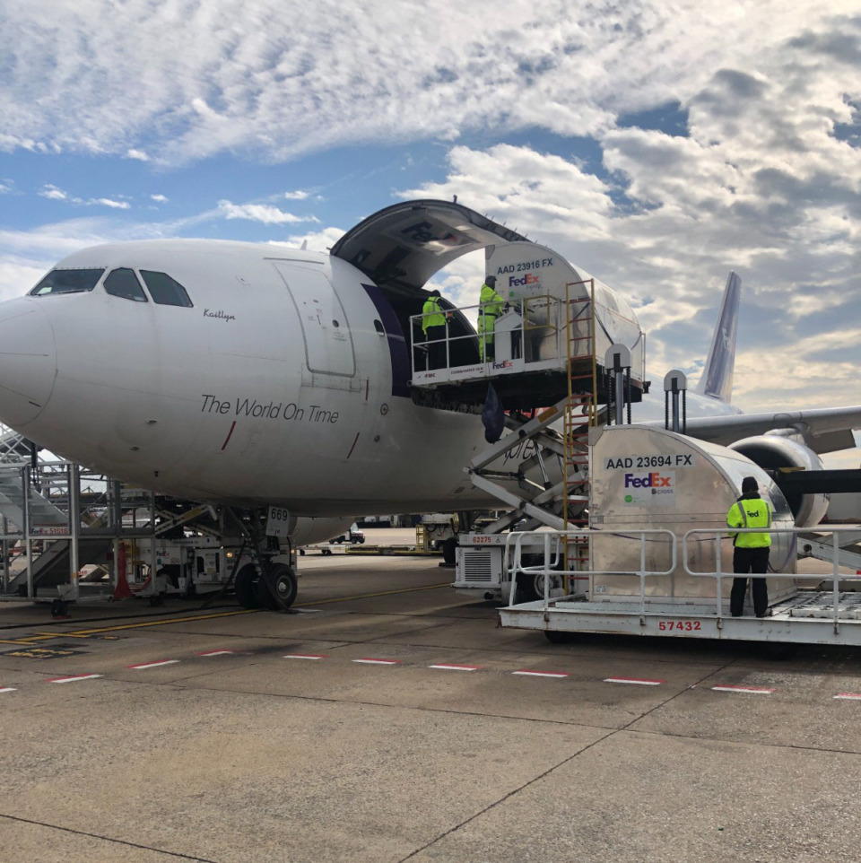 <strong>FedEx Express moved the first shipments of Pfizer&rsquo;s COVID-19 vaccine in the U.S. on Sunday, Dec. 13, 2020.</strong> (Courtesy FedEx)
