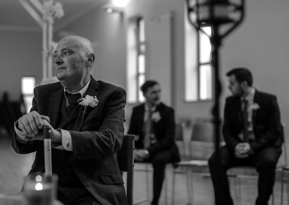<strong>Martin Nilan sits with his sons (from left) Ciar&aacute;n Nilan and Conor Nilan before his wedding ceremony in Ennis, Ireland, on March 21, 2020. </strong>(Patrick Lantrip/Daily Memphian)