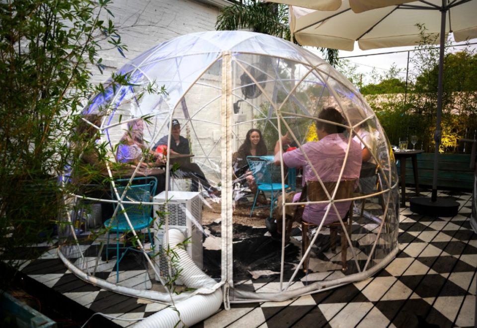 <strong>Patrons of The Beauty Shop dine in the new air-conditioned dome seating at Back Do, part of Carrier&rsquo;s Cooper-Young compound.</strong>&nbsp;(Greg Campbell/Special to Daily Memphian file)