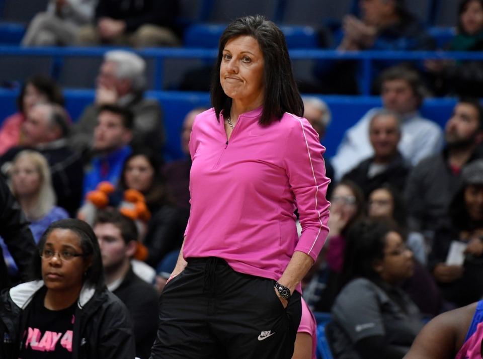<strong>Memphis athletic director Laird Veatch announced coach Melissa McFerrin's retirement Sunday, Feb. 14.</strong> (Jessica Hill/Associated Press file)