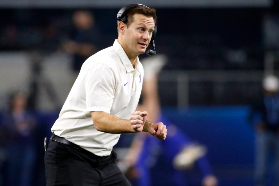 <strong>Memphis head coach Ryan Silverfield watches his team play against Penn State in the NCAA Cotton Bowl college football game in Arlington, Texas on Dec. 28, 2019.</strong> (AP Photo/Ron Jenkins, File)