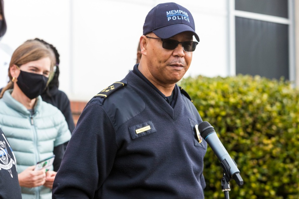 <strong>Memphis Police Department Director Mike Rallings spoke during the Unity Walk against Violence at Hilcrest High School in Whitehaven in February.</strong> (Ziggy Mack/Special to Daily Memphian)