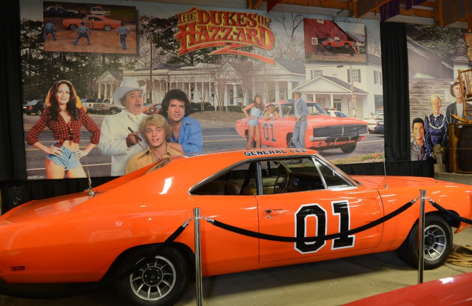 """<strong>One of the 1969 Dodge Chargers driven in the television series """"The Dukes of Hazzard"""" sits in the Volo Auto Museum in Volo, Illinois, on June 26, 2015. The Confederate battle flag is painted on the car's roof.</strong> (AP file)"""
