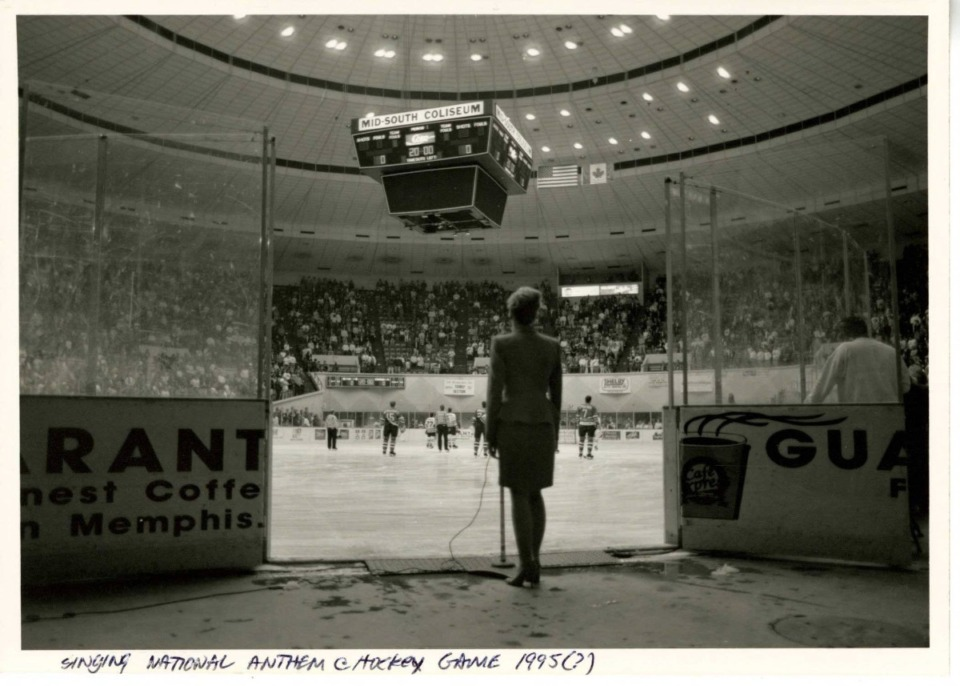 <strong>A photo (circa 1995) captures the Mid-South Coliseum during a hockey game.</strong> (Memphis Public Library Digital Archive)