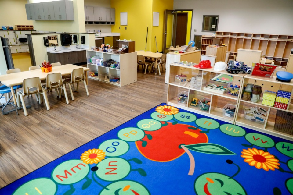 <strong>A classroom in Porter-Leath&rsquo;s new Early Childhood Academy Frayser facility looks welcoming on Thursday, March 25, 2021.</strong> (Mark Weber/The Daily Memphian)