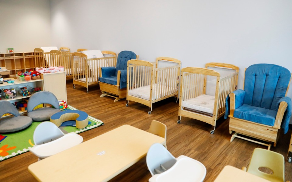 <strong>An infant classroom in Porter-Leath&rsquo;s new million Early Childhood Academy Frayser facility is ready on Thursday, March 25, 2021.</strong> (Mark Weber/The Daily Memphian)