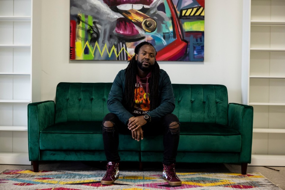 <strong>Jamond Bullock will partner with another artist to create a mural at Memphis International Airport.</strong>&nbsp;<strong>He was also selected by Target to create windscreens for local soccer parks.</strong> (Brad Vest/Special to The Daily Memphian)