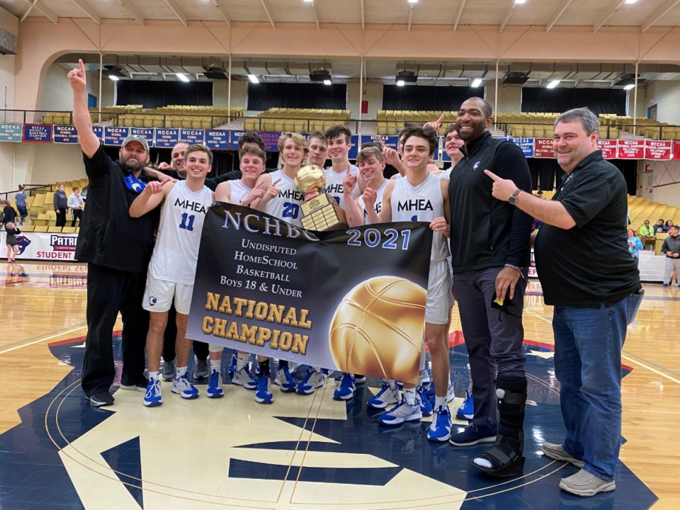 <strong>Memphis Home Education Association boys basketball team won the home school national championship 60-51 victory over Oklahoma City Storm in the championship game March 20 in Springfield, Mo.</strong> (Submitted by Brandon Cooper/MHEA)