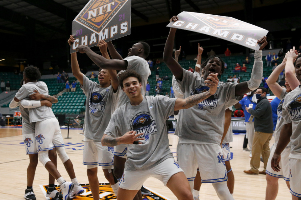 <strong>NIT CHAMPS. The University of Memphis defeated Mississippi State, 77-64, to win the NIT Championship in Frisco, Texas, Sunday, March 28, 2021.</strong> (Photo courtesy of the NCAA)