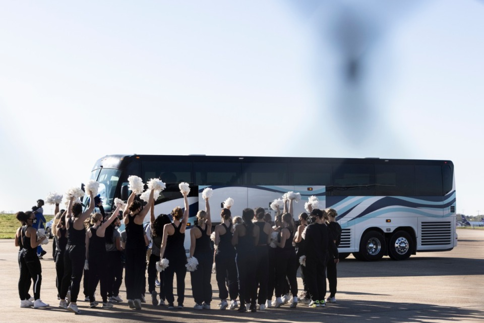 <strong>The Memphis Tigers men&rsquo;s basketball team are welcomed home after winning the NIT championship against the Mississippi State Bulldogs.</strong>&nbsp;(Brad Vest/ Special to The Daily Memphian)