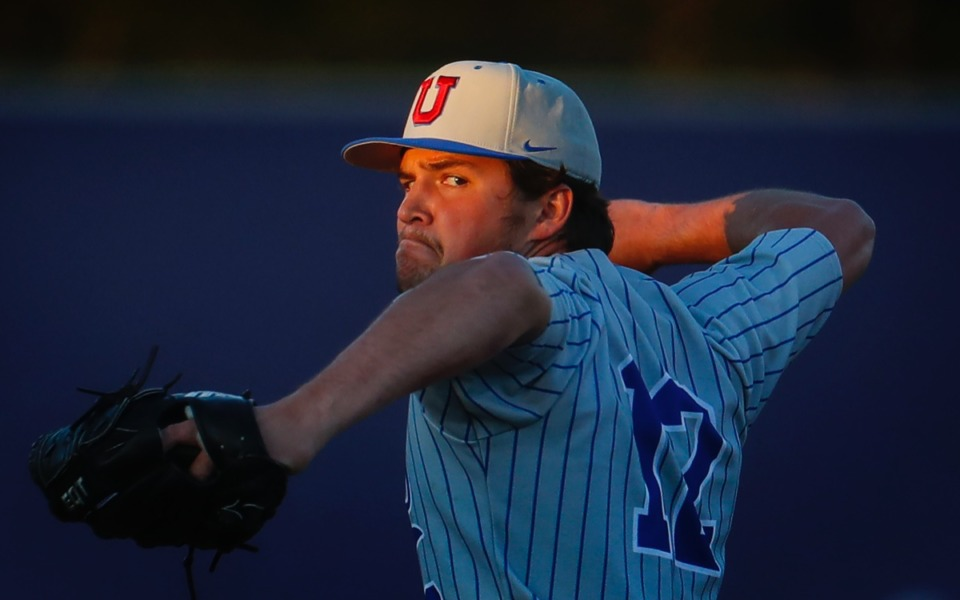 <strong>MUS starting pitcher Nash Stewart makes a throw to home plate against CBHS on March 29.</strong> (Mark Weber/The Daily Memphian)