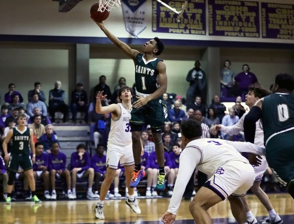 <strong>Briarcrest Christian School guard Kennedy Chandler (1) (in file photo) is one of the players scheduled to take part in this year&rsquo;s Iverson Classic all-star game May 8 at Bartlett High School. </strong>(Patrick Lantrip/Daily Memphian file)