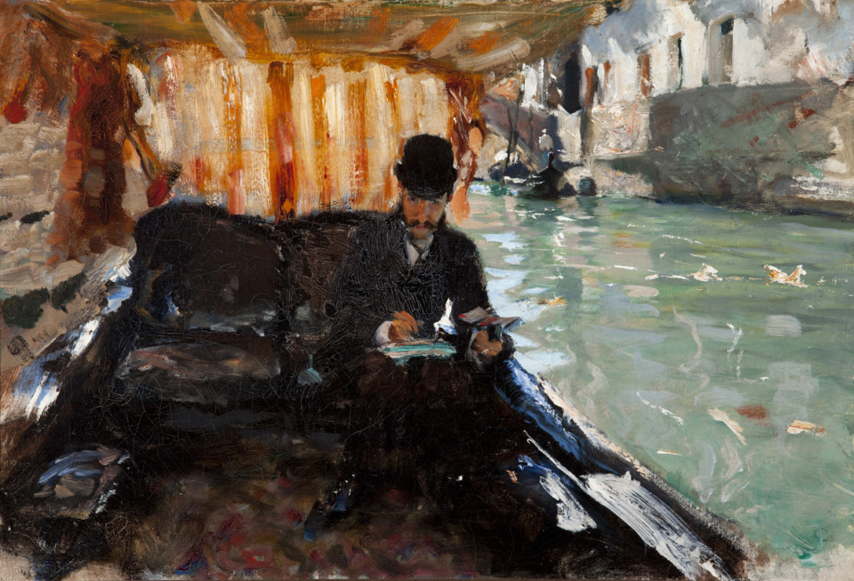 <strong>John Singer Sargent&rsquo;s &ldquo;Ramon Subrcaseaux in a Gondola&rdquo; is a Dixon piece that will travel with the &ldquo;America&rsquo;s Impressionism&rdquo; exhibition.</strong> (Courtesy Dixon Gallery &amp; Gardens)