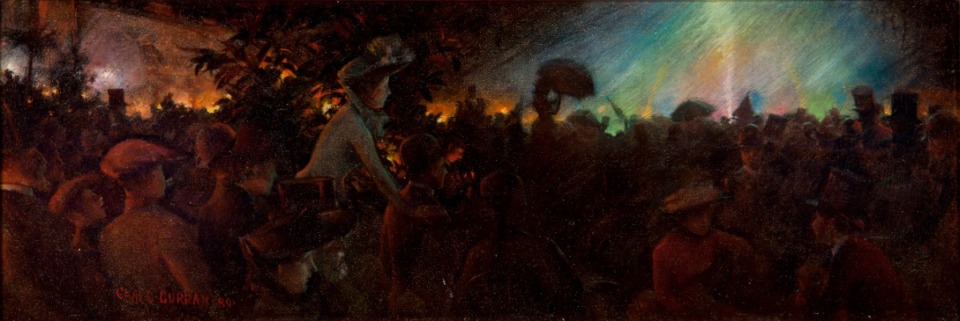 <strong>&ldquo;Evening Illuminations at the Paris Exposition,&rdquo;&nbsp;by Charles Courtney Curran, is part of the Dixon exhibition.</strong>&nbsp;(Courtesy Dixon Gallery &amp; Gardens)