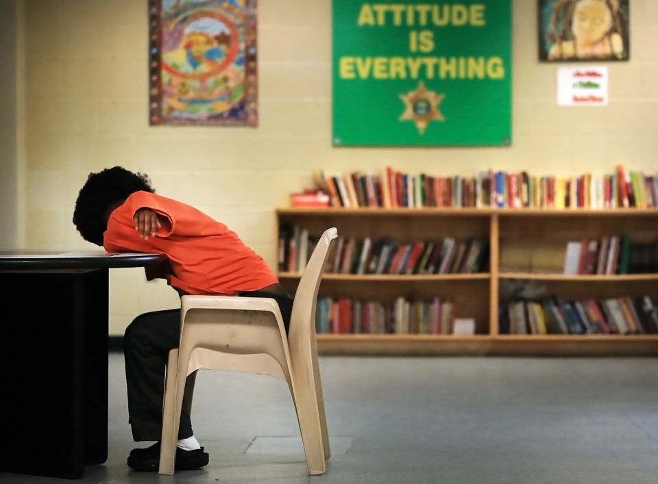 <strong>Children are allowed to bring books from the school library into their rooms at the Shelby County Juvenile Detention Center, but nothing else. The center is getting attention again after Shelby County Mayor Lee Harris said he is making the construction of a new $25 million juvenile facility a top priority.</strong> (Jim Weber/Daily Memphian)