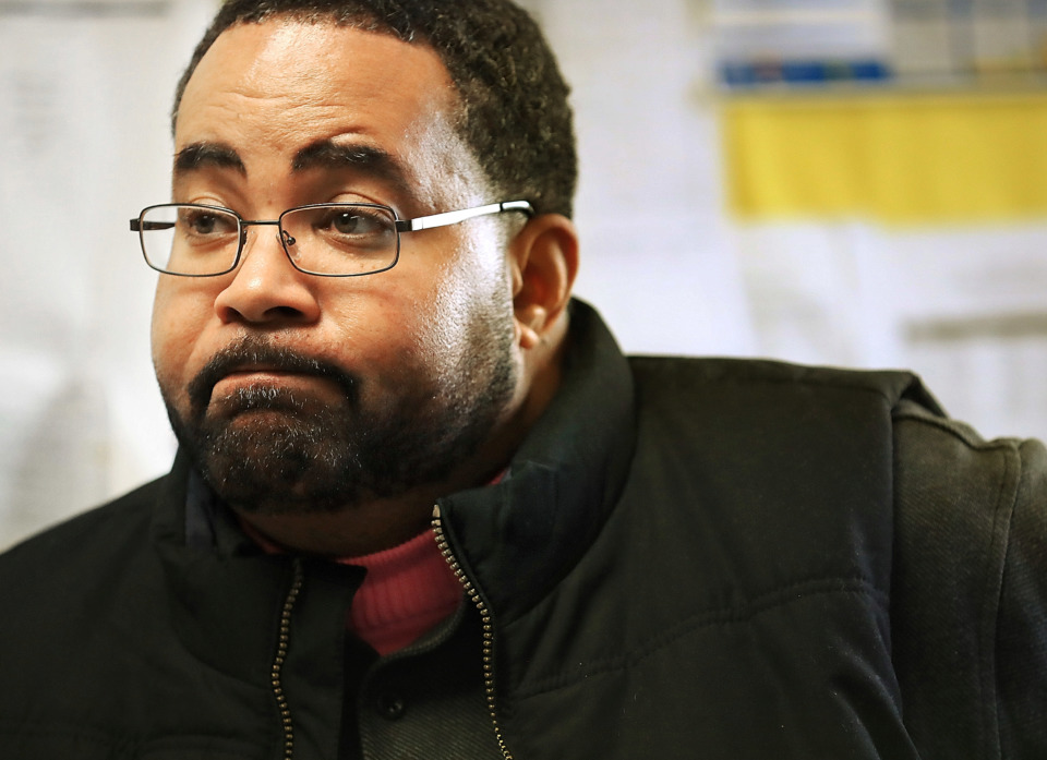 """<strong>Hope Academy principal Eugene Lockhart talks about the school's need for more room during a tour of the Shelby County Juvenile Detention Center on Jan 18, 2019. """"We are in dire need of more space in the classrooms,"""" he said.</strong> (Jim Weber/Daily Memphian)"""