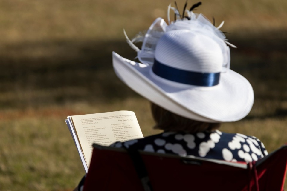 <strong>The outdoor worship service at St. George&rsquo;s Episcopal Church in Germantown provided an opportunity to show off an Easter bonnet.</strong> (Brad Vest/Special to The Daily Memphian)
