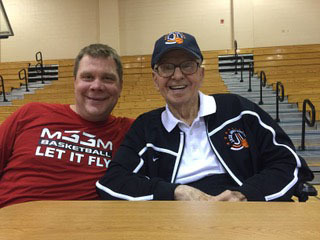 """The older guy is the late John Paul """"Jack"""" Jones. Avid basketball fan and former Memphis attorney and publisher of the Daily News. The other is his friend Ernie Kuyper, organizer of the Jack Jones Shootout. (Submitted)"""