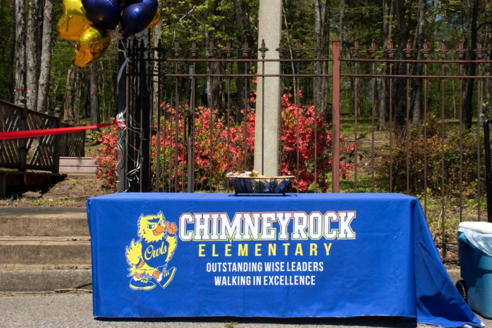 <strong>Chimneyrock Elementary School in Cordova held a ribbon-cutting ceremony for its new reading garden Monday, April 12.</strong> (Daja E. Henry/Daily Memphian)