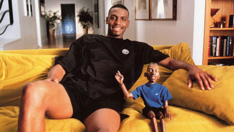 <span><strong>Penny Hardaway sits next to his alter-ego Lil Penny as part of a Nike sneaker campaign back in the 90s.</strong> <strong>More than two decades after the last Lil Penny television commercial, Hardaway announced last week that Lil Penny would be making a comeback.</strong>&nbsp;(Photo courtesy of Yahoo Sports)</span>
