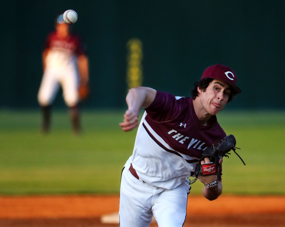 <strong>Collierville pitcher Thomas Crabtree (6) throws against Arlington on April 13.</strong> (Patrick Lantrip/Daily Memphian)