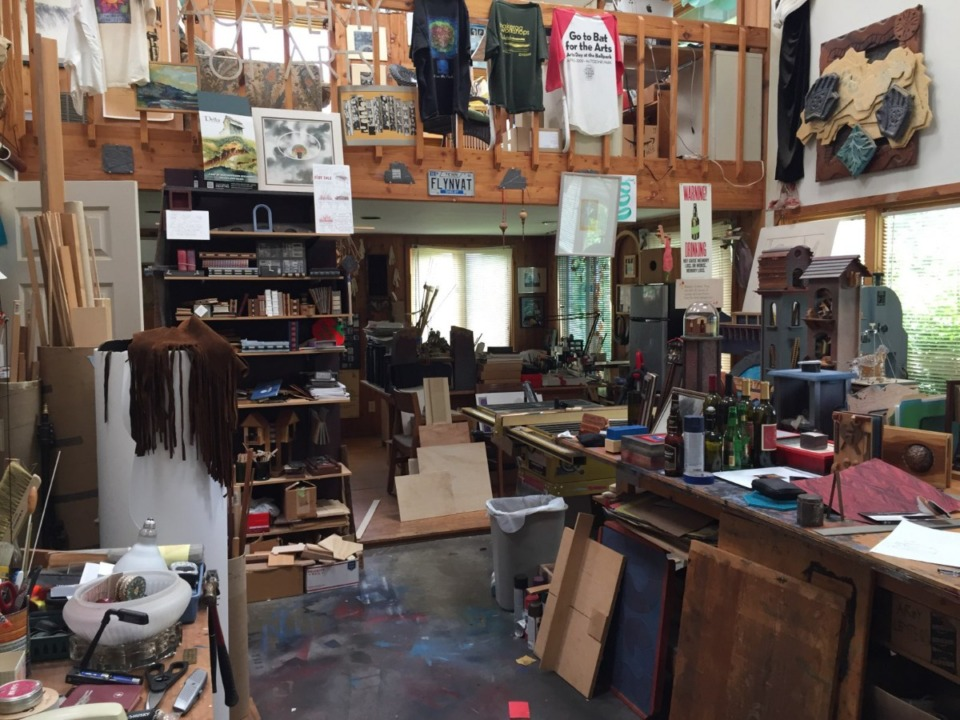 <strong>Dolph Smith&rsquo;s Tennarkippi studio is filled with a joyous jumble of art and items waiting to become art.</strong>&nbsp;(Submitted by Dolph Smith)