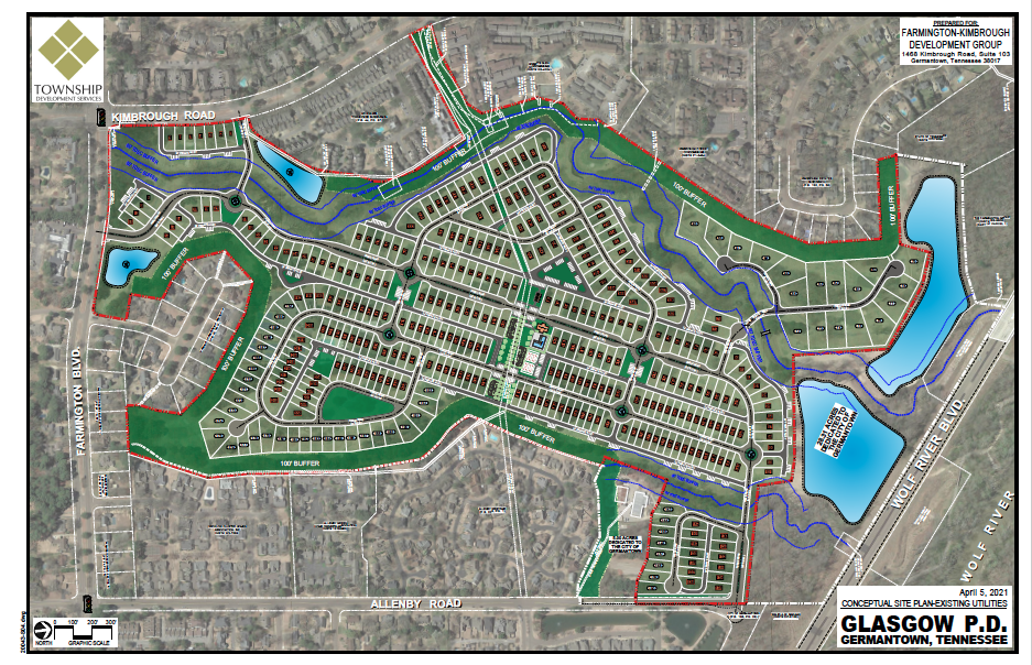 <strong>A concept plan for the former Germantown Country Club site includes 366 lots. Developers have submitted the plan to Germantown for review.</strong> (Submitted)