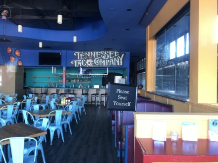 <strong>Tennessee Taco Co. stands empty after owner Shirley Fan closed the restaurant Jan. 11. She hopes to sell the business, including the furnishings and equipment as well as the concept, brand and menu.</strong> (Jennifer Biggs/Daily Memphian)