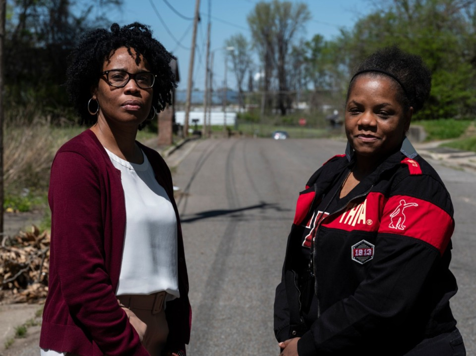 <strong>Kathy Robinson (left), and Kizzy Jones, friends for 27 years, are now fighting together against the proposed Byhalia Connection Pipeline that would be built near where they grew up.</strong> (Brad Vest/Special to The Daily Memphian)