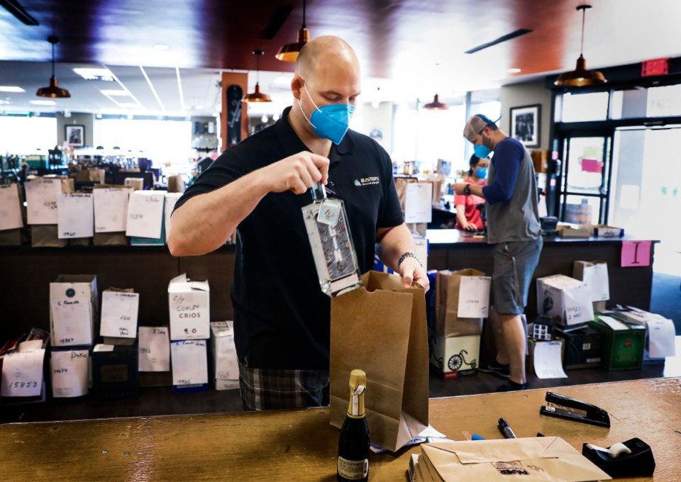 <strong>At Buster&rsquo;s Liquor &amp; Wines in East Memphis, most of the older employees have been vaccinated, but many of the younger workers believe they don&rsquo;t need to be vaccinated, said co-owner Josh&nbsp; Hammond.</strong> (Mark Weber/Daily Memphian file)