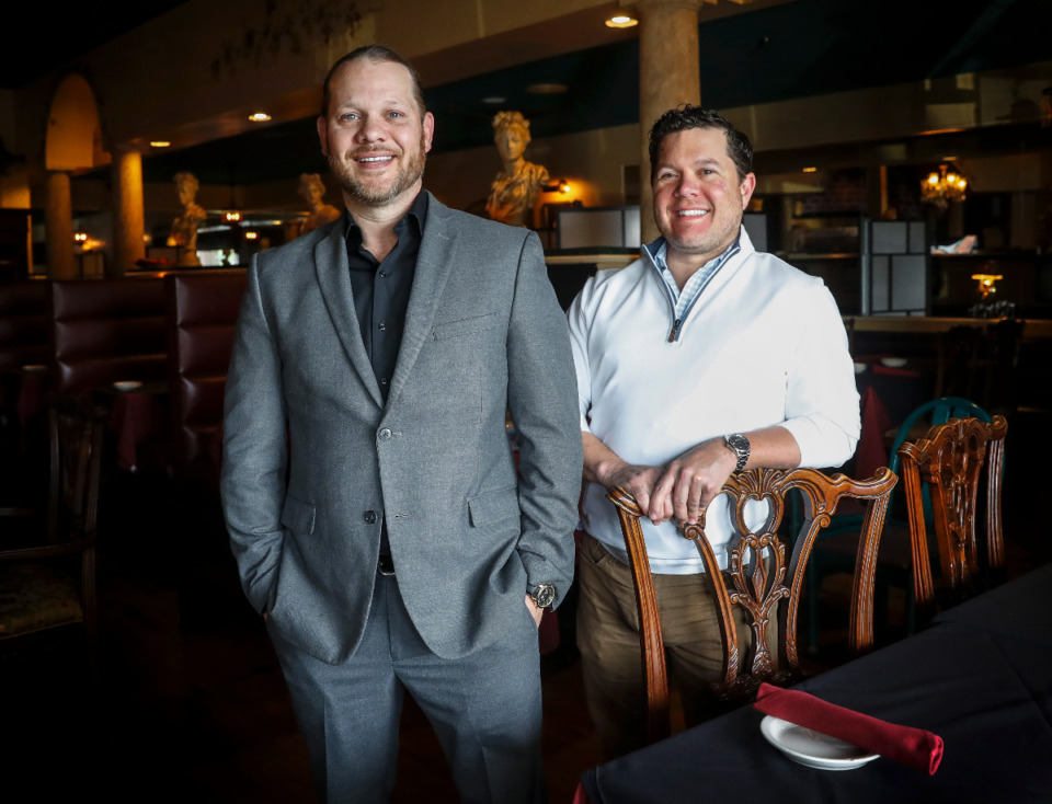 <strong>Villa Castrioti owners Aron Pullen (left) and Brian Leith will be expanding soon. They plan to enlarge the current location at 714 N. Germantown Parkway and also open a new restaurant in The Lake District.&nbsp;</strong>(Mark Weber/The Daily Memphian)
