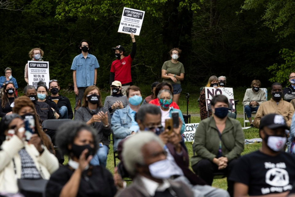 <strong>Several dozen people showed up Sunday for the rally at a Southwest Memphis park.</strong> (Brad Vest/Special to The Daily Memphian)