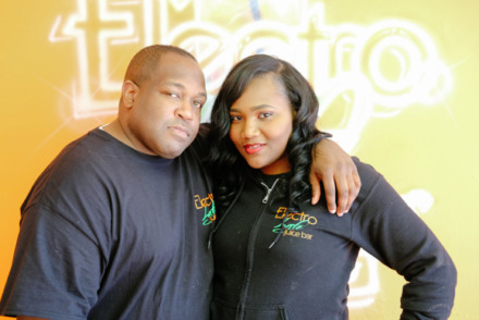 <span><strong>Eric Bland and Quavisa Henderson are co-owners of ElectroLyfe Juice Bar, one of the restaurants participating in Whitehaven Black Restaurant Week through Saturday, Jan. 26.</strong> (Photo by Brandon Dahlberg)</span>