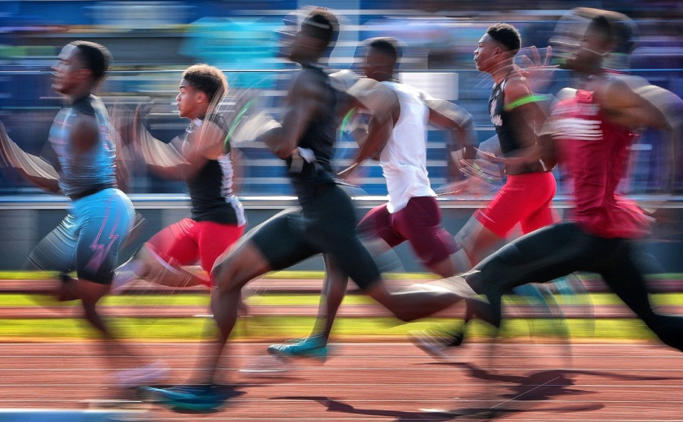 <strong>On May 24, 2019, runners competed in&nbsp; in the Class A 100M dash during the Spring Fling Class A-AA state track finals at MTSU in Murfreesboro. This year&rsquo;s track and field competition will be held at Rockvale (Tenn.) High School.</strong> (Jim Weber/Daily Memphian file)