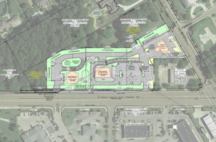 <strong>If approved, the entrance and exit to the Chick-fil-A will be at Poplar and Forest Hill-Irene, according to the site plan.</strong> (Submitted)