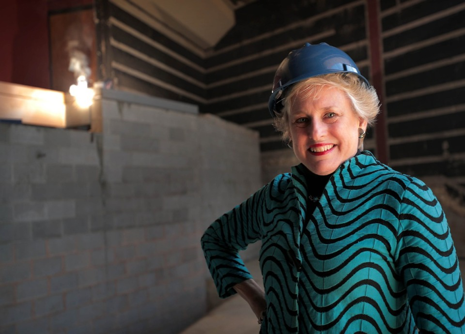 <strong>Theatre Memphis Executive Producer Debbie Litch (in a file photo) talks about some of the new features of the lobby as Theatre Memphis undergoes a multi-million-dollar renovation in advance of its 100th year.</strong> (Jim Weber/Daily Memphian file)