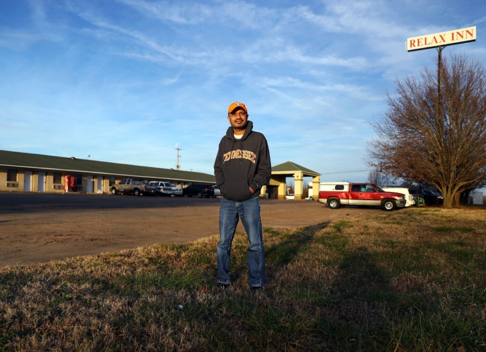 <strong>Relax Inn owner Mike Patel (in a file photo) owns undeveloped property adjacent to his Lakeland motel.</strong> (Patrick Lantrip/Daily Memphian)