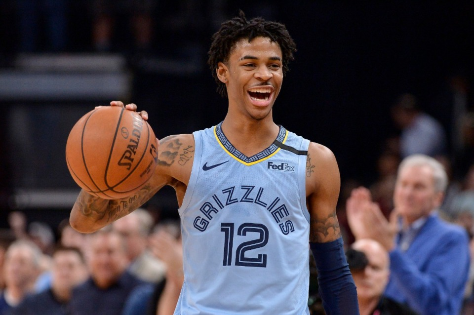 <strong>With the presence of superstar point guard Ja Morant, the Grizzlies have become one of the fastest-growing NBA brands in Asia.</strong> (Brandon Dill/AP file)