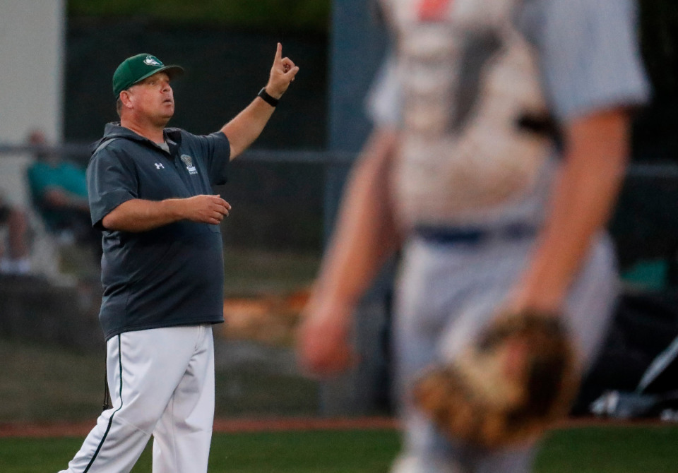 <strong>Briarcrest head coach Craig Hopkins (in file photo) coached the Saints to a 17-4 win over Arlington on Monday, April 26, 2021. </strong>(Mark Weber/The Daily Memphian file)