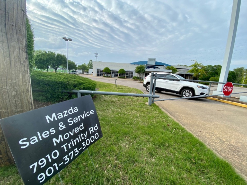 <strong>Gwatney Mazda at 7300 Winchester has closed.</strong> (Tom Bailey/Daily Memphian)