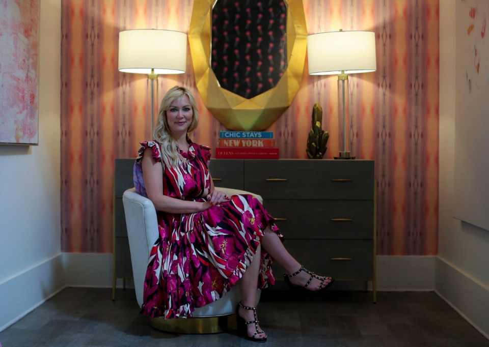 <strong>Local interior designer Leslie Murphy of Murphy Maude Interiors has launched a new brand called Mable Originals &mdash; a textiles company that creates original wallpapers, pillows, bedding and more.</strong>&nbsp;(Patrick Lantrip/Daily Memphian)