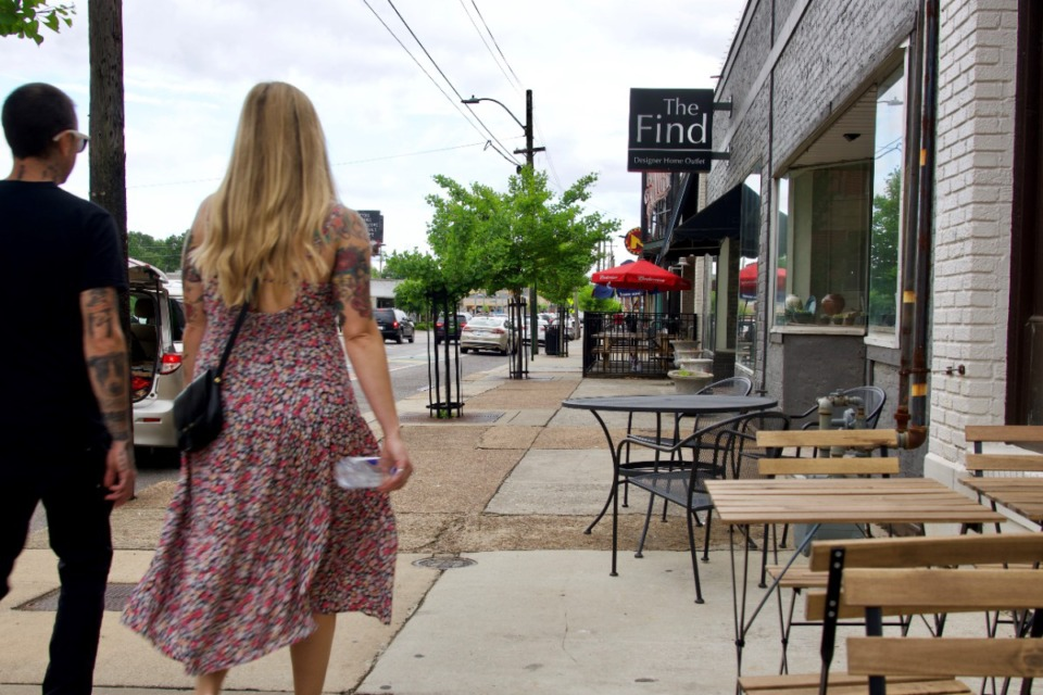 <strong>The Highland Streetscape Improvement Project includes not just making the street safer for pedestrians, but improving the sidewalks on and near the Highland Strip.</strong> (Tom Bailey/Daily Memphian)