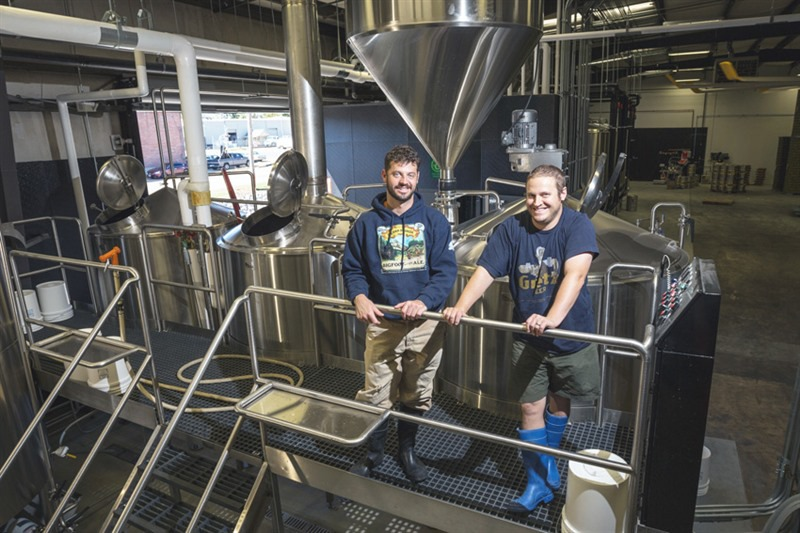 <strong>Brothers Kellan (left) and Davin Bartosch are owners of Wiseacre Brewing Company. They are among local breweries and distillers that oppose the Byhaila pipeline proposal.</strong> (Daily Memphian file)