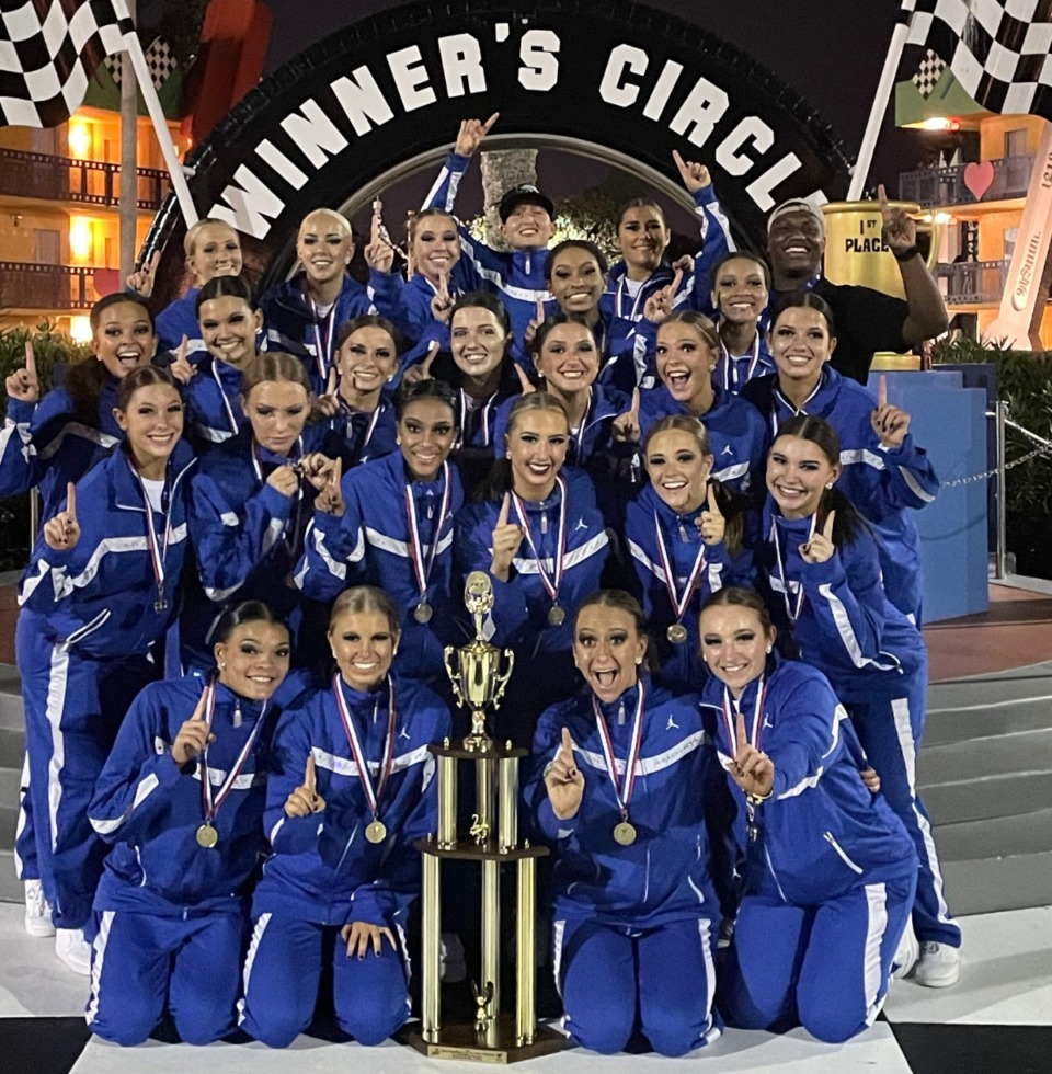 <strong>After an 8-year drought, the University of Memphis Pom Squad coached by Carol Lloyd won a national championship in hip hop last week at the ESPN Complex in Orlando</strong> (Submitted photo)