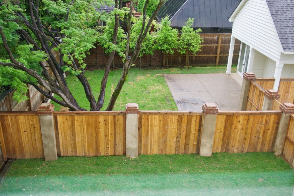 <strong>Thanks to a new fence, each apartment unit has its own private space in the backyard.</strong> (Tom Bailey/Daily Memphian)