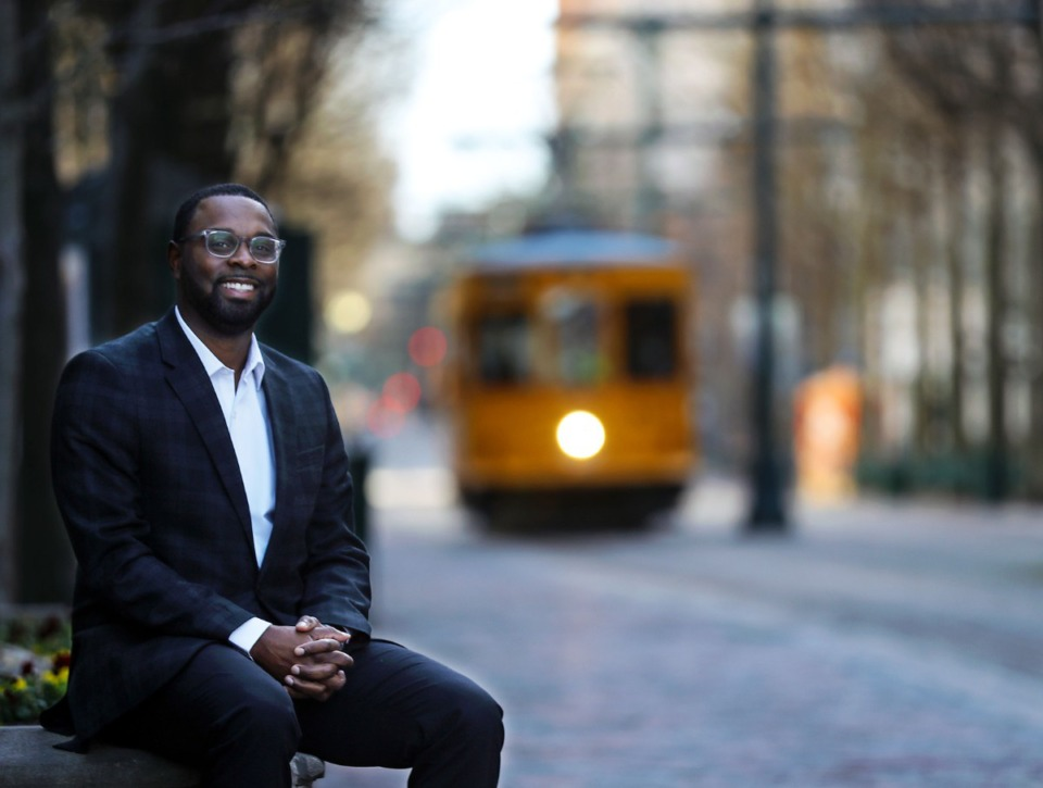 <strong>Paul Young, seen here on March 15 has been named the new president of the Downtown Memphis Commission. The Downtown Memphis Commission filed for a special use permit for its planned, $40 million Mobility Center.</strong> (Patrick Lantrip/Daily Memphian)