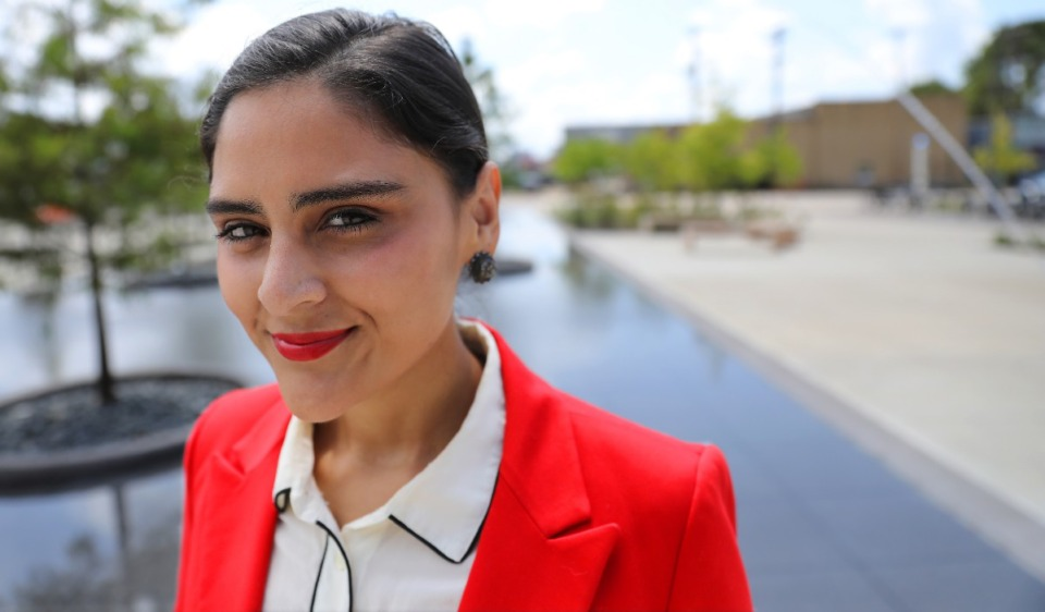<strong>Gabby Salinas, seen here in 2018, is on the board of Fuerza, a new statewide political action committee for Latino Democrats.</strong> (Daily Memphian file)