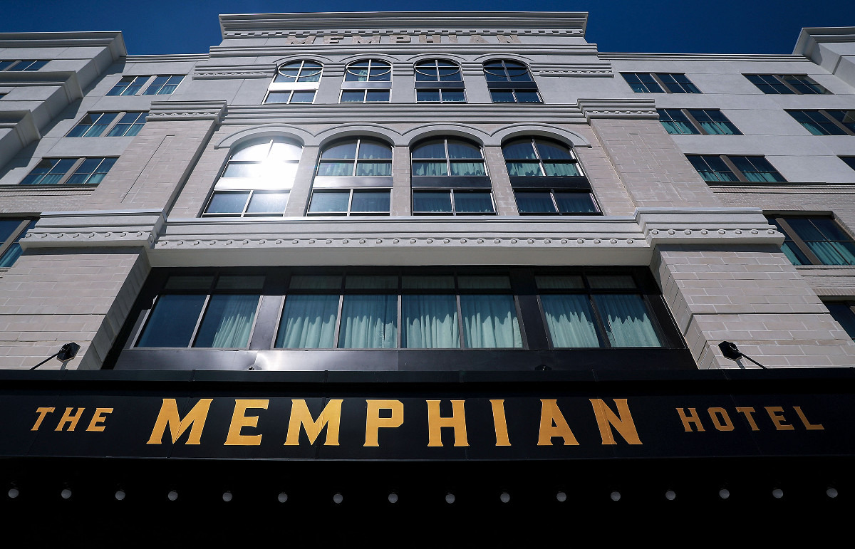 <strong>The Memphian Hotel faces Madison Avenue in Overton Square.</strong> (Patrick Lantrip/Daily Memphian)