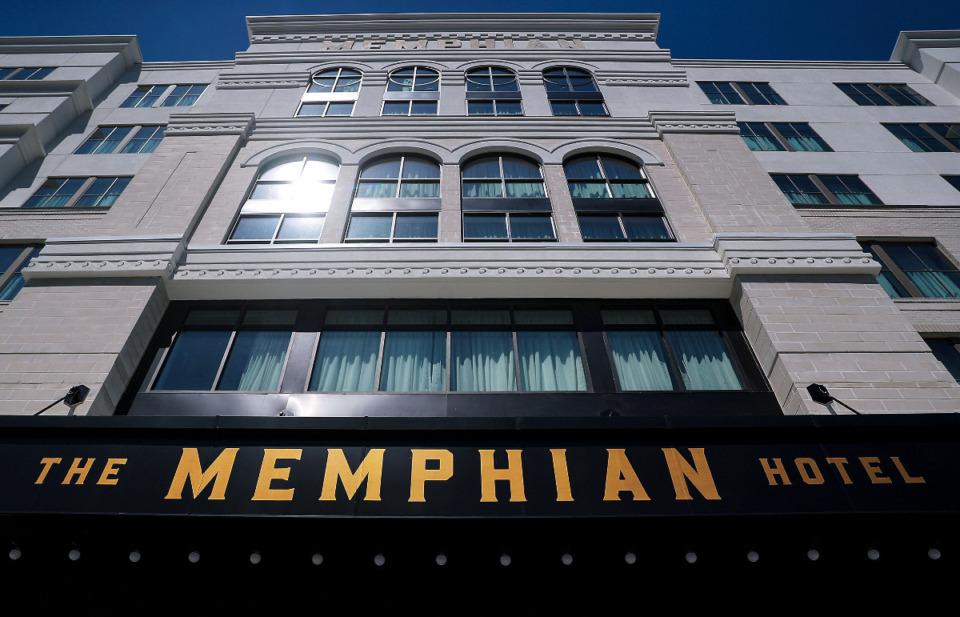 <strong>The Memphian Hotel faces Madison Avenue in Overton Square.</strong> (Patrick Lantrip/Daily Memphian)